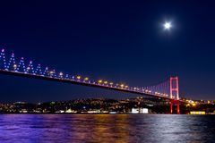 Istanbul Night Scene Stock Photography