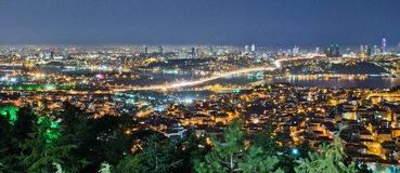 Istanbul night scene Stock Image