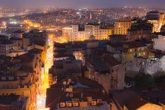 Istanbul night skyline Royalty Free Stock Image