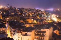 Istanbul night skyline Royalty Free Stock Photo