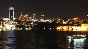 Istanbul at night stock video footage