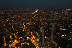 İstanbul night. Towers Royalty Free Stock Image