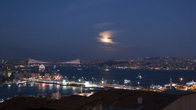 Istanbul night view Stock Photography