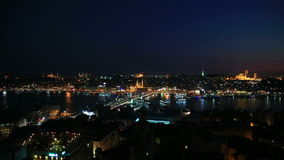Istanbul at night stock footage