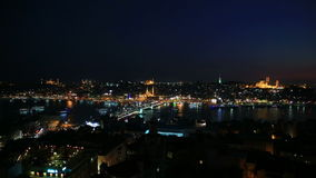 Istanbul at night Stock Image