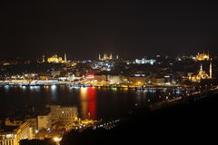 Istanbul nightview royalty free stock image