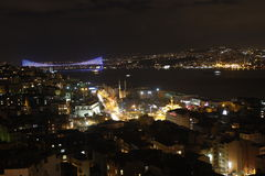 Istanbul nightview stock photos