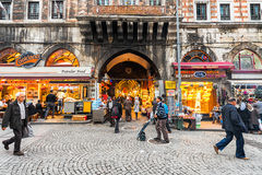ISTANBUL - NOV, 20: One of the smaller entrances to the Grand Ba Royalty Free Stock Photos
