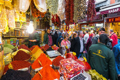 ISTANBUL - NOV, 21: The Spice Bazaar or Egyptian Bazaar is one o Royalty Free Stock Photos