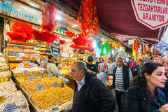 ISTANBUL - NOV, 21: The Spice Bazaar or Egyptian Bazaar is one o Stock Images