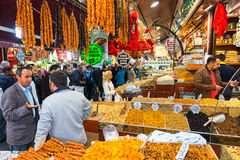ISTANBUL - NOV, 21: The Spice Bazaar or Egyptian Bazaar is one o Royalty Free Stock Photography