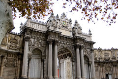 ISTANBUL - November 20: the Gate of the Sultan, Dolmabahce Palace, on  November 20  in Istanbul,Turkey. Royalty Free Stock Photography