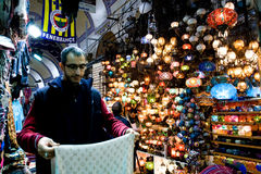 ISTANBUL, November 22: People shopping in the Grand Bazar in Istanbul, Turkey Stock Photography