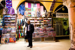 ISTANBUL, November 22: People shopping in the Grand Bazar in Istanbul, Turkey Royalty Free Stock Image
