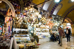 ISTANBUL, November 22: People shopping in the Grand Bazar in Istanbul, Turkey Royalty Free Stock Photography