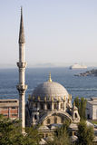 Istanbul Nusretiye Cami. The style of the mosque is Baroque. It is made of stone and marble stock images