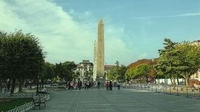 istanbul obelisktheodosius Arkivbilder