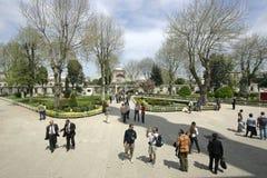 Istanbul och moskéer Arkivfoto