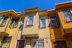 Istanbul old street houses Royalty Free Stock Image