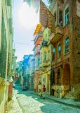 Istanbul old street - Phanar district Stock Photo