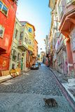 Istanbul old street - Phanar district Royalty Free Stock Photography