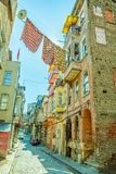 Istanbul old street - Phanar district Royalty Free Stock Photo