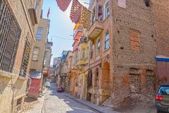 Istanbul old street - Phanar district Royalty Free Stock Image