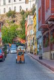 Istanbul old street traffic Royalty Free Stock Photos