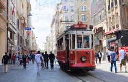 Istanbul old tram. Stock Photography