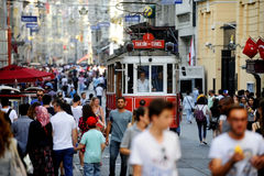 Istanbul old tram Stock Photography