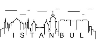 Istanbul outline icon. Can be used for web, logo, mobile app, UI, UX royalty free illustration