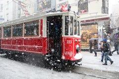 Istanbul på en snöig dag Royaltyfria Bilder