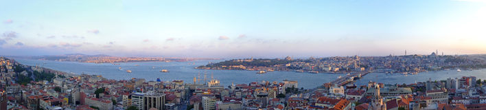 Istanbul-Panorama stockfotografie