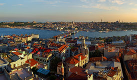 Istanbul Panorama From Galata Tower Stock Image
