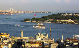 Istanbul panorama from Galata Tower Stock Photography