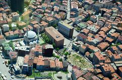 Istanbul Panorama from Tallest Tower as called Sapphire Shopping Mall in Istanbul. Turkey Cityscape stock photos
