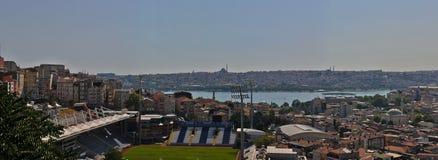 istanbul panorama till sikten Arkivfoto