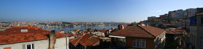 Istanbul panoramic. Panoramic view of Istanbul and Bosphorus Royalty Free Stock Photo