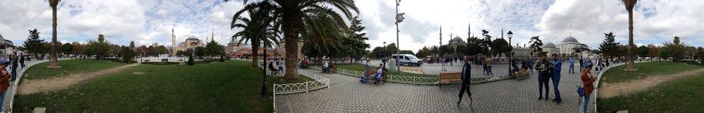 İstanbul panoramic. Panoramic istanbul, sultanahmet mosque, Bluemosque, people Stock Photos