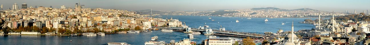 Istanbul panoramic stock photography
