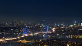 Istanbul panoramic view at night Royalty Free Stock Images