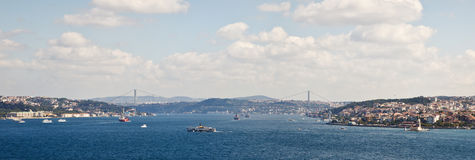 Istanbul Panoramic View from Topkapi Place. Istanbul, Turkey Royalty Free Stock Photography