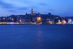 Istanbul par nuit Image stock