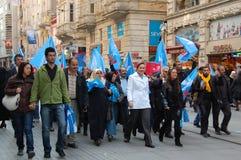 istanbul partyjny polityczny wiec Zdjęcie Stock