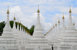 Rows of Stupas In Mandalay Temple Stock Images