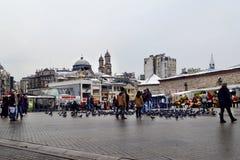 Istanbul, place de Taksim Église orthodoxe grecque de Hagia Triada dans t Image stock