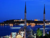 Istanbul-Popular places Royalty Free Stock Photography