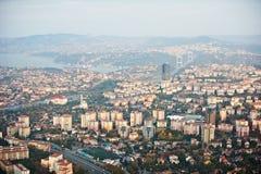 istanbul powietrzny widok stare miasto Zdjęcie Stock