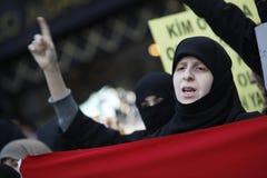 istanbul protestsyrianer Royaltyfria Foton