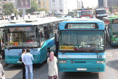 Istanbul Public Buses Royalty Free Stock Images